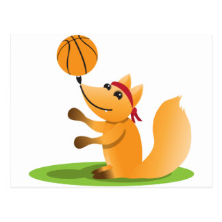 Cartão Postal Raposa do basquetebol