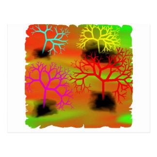 Cartão Postal Rasgando árvores pelo suicídio de Chrystal