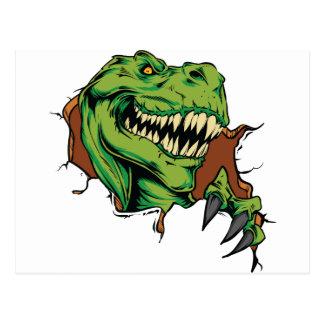 Cartão Postal Rasgos de T Rex