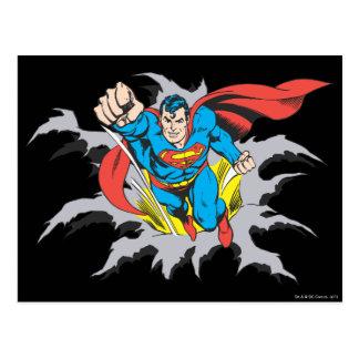 Cartão Postal Rasgos do superman completamente