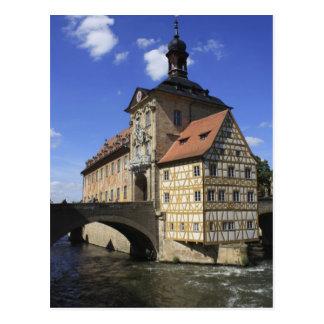 Cartão Postal Rathaus de Bamberga, Alemanha