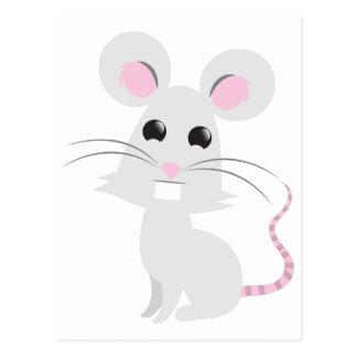 Cartão Postal Rato cinzento bonito