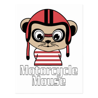 Cartão Postal Rato da motocicleta, design do vintage dos