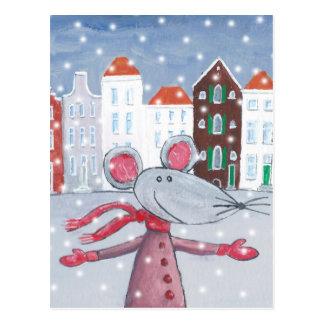 Cartão Postal Rato da neve