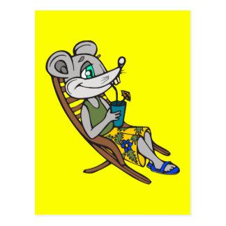 Cartão Postal Rato da praia