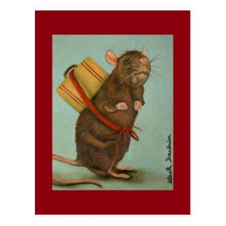 Cartão Postal Rato de bloco