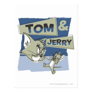 Cartão Postal Rato de Tom e de Jerry Scaredey