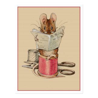 Cartão Postal Rato do alfaiate por Beatrix Potter