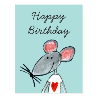 Cartão Postal Rato do amor