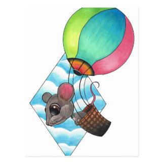 Cartão Postal Rato do balão de ar quente