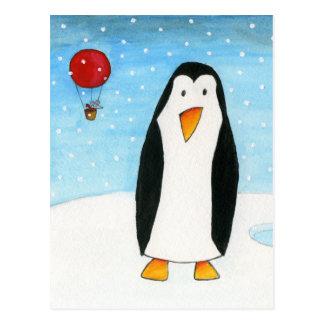 Cartão Postal Rato do balão & pinguim #2