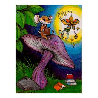 Cartão Postal Rato do cogumelo