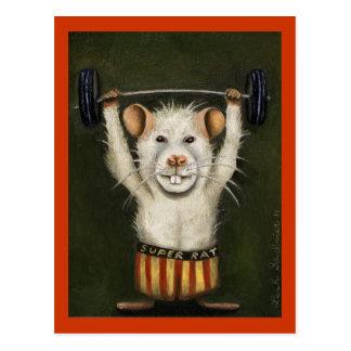 Cartão Postal Rato super
