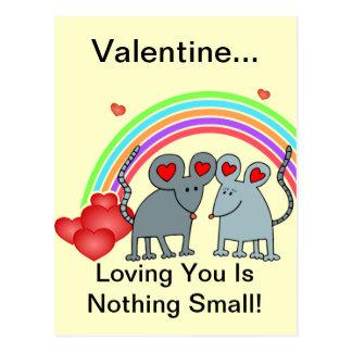 Cartão Postal Ratos em namorados do amor