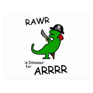Cartão Postal RAWR é dinossauro para ARRR (o dinossauro do