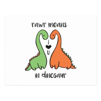 Cartão Postal Rawr no dinossauro