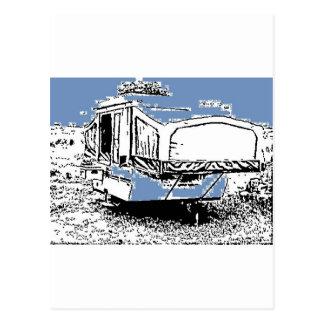 Cartão Postal Reboque da barraca no azul