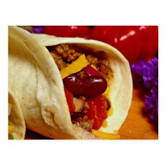 Cartão Postal Receita bonita do Burrito para amantes da comida