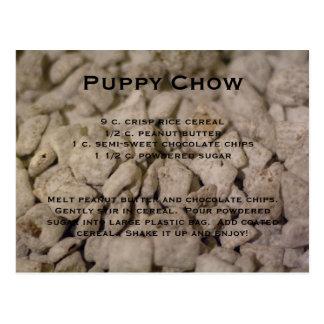 Cartão Postal Receita da comida de filhote de cachorro