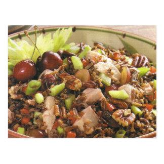 Cartão Postal Receita da salada do arroz selvagem de Turquia
