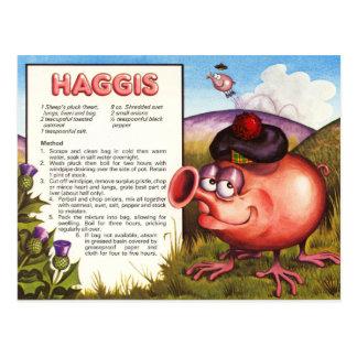 Cartão Postal Receita de Haggis