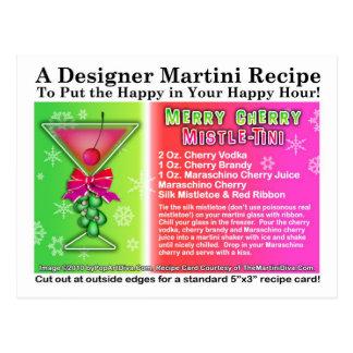 Cartão Postal Receita de Martini do Natal de Mistle-Tini da