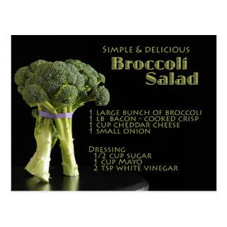 Cartão Postal Receita dos brócolos