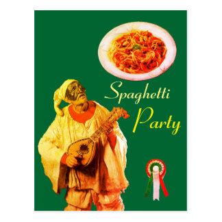 Cartão Postal Receita ITALIANA do PARTIDO dos ESPAGUETES da