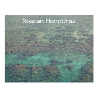 Cartão Postal Recife de corais de Haunduras