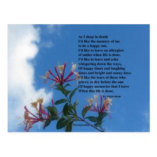 Cartão Postal Recorde-me poema