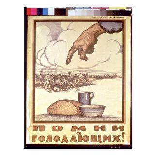 Cartão Postal Recorde o com fome! , poster, 1921