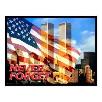 Cartão Postal Recorde os ataques terroristas do 11 de setembro
