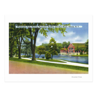 Cartão Postal Recreação Bldg & Boathouse