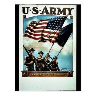 Cartão Postal Recruta do exército de Wwii