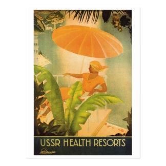 Cartão Postal Recurso de saúde de URSS do vintage