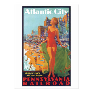 Cartão Postal Recurso do ano de Atlantic City América todo o