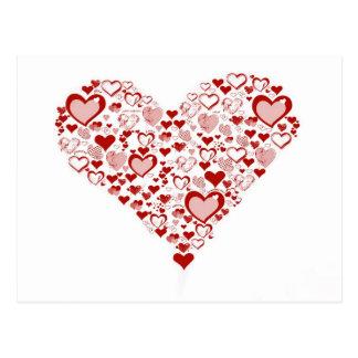 Cartão Postal red heart
