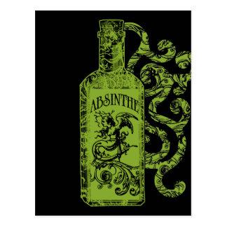 Cartão Postal Redemoinhos da garrafa do absinto