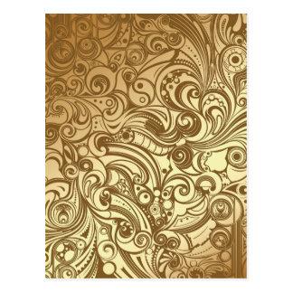 Cartão Postal Redemoinhos dourados