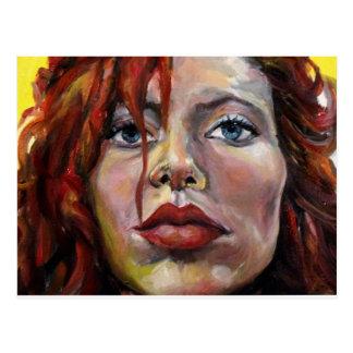 Cartão Postal Redhead, um retrato de auto