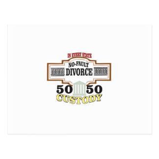Cartão Postal reduza a custódia 50 50 automática dos divórcios