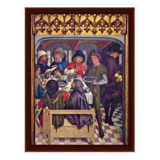Cartão Postal Refeição da peregrinação de Compostela