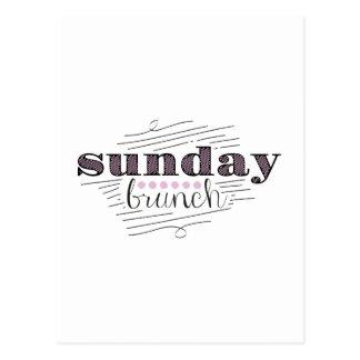 Cartão Postal Refeição matinal de domingo