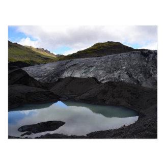 Cartão Postal Reflexão da geleira, Islândia sul