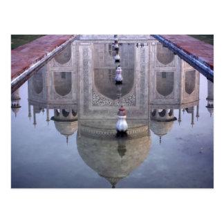 Cartão Postal Reflexão de Taj Mahal, Agra, Uttar Pradesh,