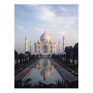 Cartão Postal Reflexão de Taj Mahal em Agra, Uttar Pradesh,