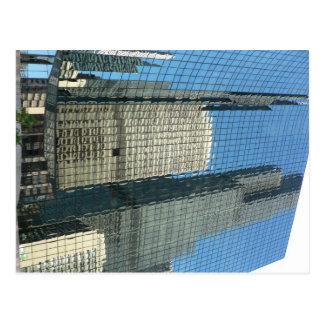Cartão Postal Reflexão do arranha-céus