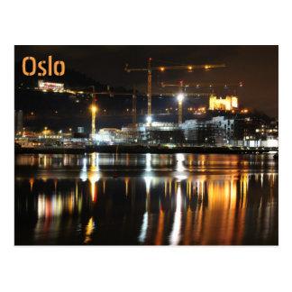 Cartão Postal Reflexões da água em Oslo, Noruega