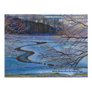 Cartão Postal Reflexões da água pelo parque de Inwood