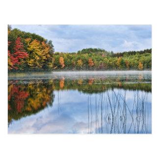 Cartão Postal Reflexões da queda do U.P. Michigan